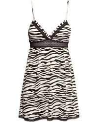 H&M Nightslip With Lace animal - Lyst