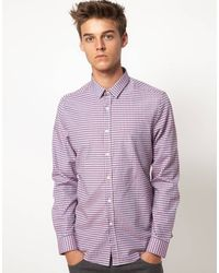 Asos Smart Gingham Shirt - Lyst