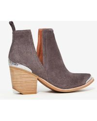 Jeffrey Campbell | Cromwell Suede Bootie - Gray | Lyst