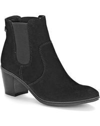 Anne Klein Bunty Suede Ankle Boots - Lyst
