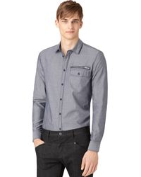 Calvin Klein Jeans Zip-pocket Printed Shirt - Lyst