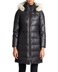 Andrew Marc Arden Fur-Trimmed Puffer Jacket - Lyst