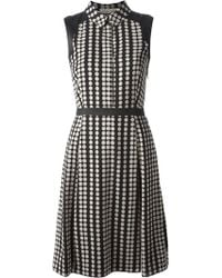 Tory Burch Black Dotted Dress - Lyst