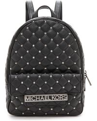 Michael by Michael Kors Studded Backpack  Black - Lyst