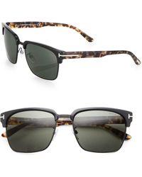 Tom Ford Half-rim 57mm Square Sunglasses - Lyst