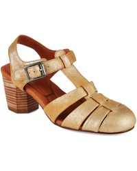 Gentle Souls Lucerine Metallic Sandals - Lyst