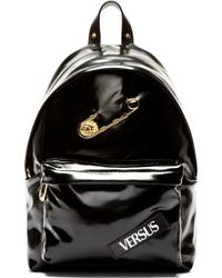 Versus  Black Pvc Safety Pin Backpack - Lyst