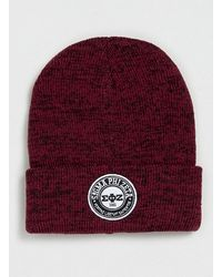 Lac Bk and Burgundy Fraternity Beanie - Lyst