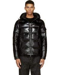 Moncler Black Quilted Down Maya Jacket - Lyst