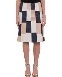 Thakoon Leather Patchwork Skirt - Lyst
