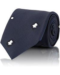Uman - Men's Floral-embroidered Necktie - Lyst