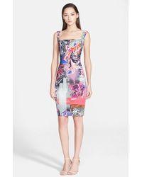 Versace Graffiti Print Sleeveless Dress multicolor - Lyst