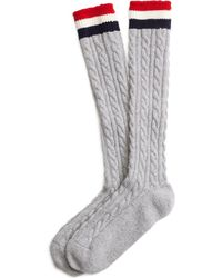 Brooks Brothers Cable Knit Socks - Lyst