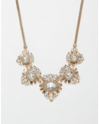 Lipsy - Deco Crystal Collar Necklace - Lyst