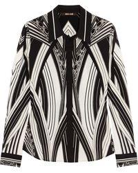 Roberto Cavalli Chicago Printed Stretch-Silk Shirt - Lyst