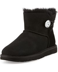 Ugg Bailey Crystalbutton Mini Boot - Lyst