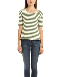 A.L.C. Top Shoulder Snap In Green Stripe green - Lyst