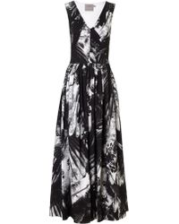 Preen By Thornton Bregazzi Vertigo Blackbirds-Print Dress - Lyst