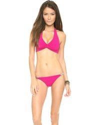 Zimmermann Low Link Bikini Bottoms Raspberry - Lyst