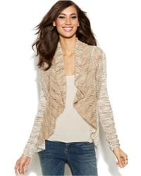 Inc International Concepts Petite Marled-Knit Open-Front Cardigan - Lyst