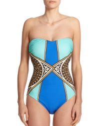 Gottex One-Piece Santorini Bandeau Swimsuit - Lyst