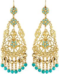 Jose & Maria Barrera Crystal Chandelier Drop Earrings gold - Lyst