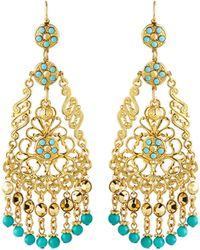 Jose & Maria Barrera Crystal Chandelier Drop Earrings - Lyst