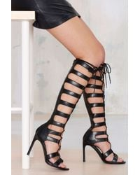 Nasty Gal Fighter Gladiator Heel - Lyst