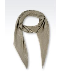 Armani Striped Scarf - Lyst
