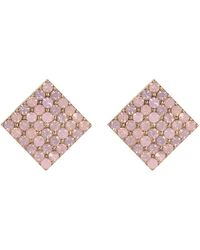 River Island Pink Encrusted Stud Earrings - Lyst