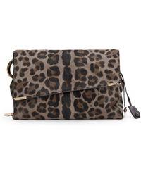Jimmy Choo Ally Leopard Print Calf Hair Shoulder Bag - Lyst