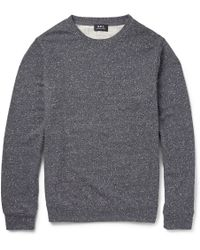 A.P.C. Donegal Cotton-blend Jersey Sweatshirt - Lyst