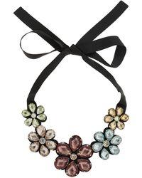 Topshop Large Rhinestone Flower Collar - Lyst