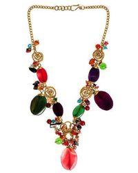 Aeravida - Festive Muse Multistone Brass Handmade Necklace - Lyst