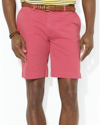 Ralph Lauren Polo Classic Fit Flat Front 9 Chino Short - Lyst