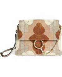 choloe bag - Chlo�� Small Drew Suede Patchwork Shoulder Bag in Multicolor (MOTTY ...