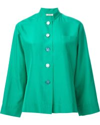 Yves Saint Laurent Vintage Standing Collar Shirt - Lyst