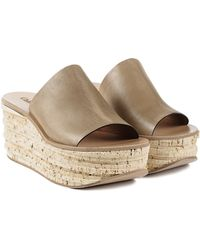 Chloé Cork Wedge Slide - Lyst