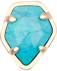 Kendra Scott Turquoise Magnesite Facet Charm - Lyst