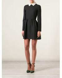 Valentino Floral Collar Dress - Lyst