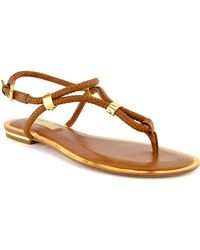 Michael Kors Luggage Hartley Sandal - Lyst