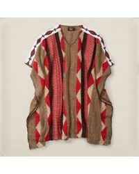 RRL - Etta Hand-knit Poncho - Lyst
