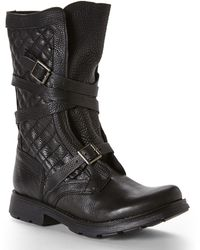 Steve Madden Black Bounti Quilted Boots - Lyst