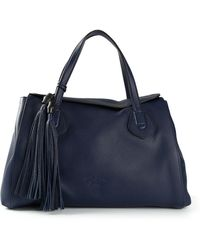 Gucci Blue Oversized Tote - Lyst