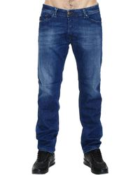 Diesel Jeans Darron Regular Slim Used Denim With Whiskering - Lyst