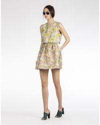 Cynthia Rowley Tropical Jacquard Dress W- Popover - Lyst