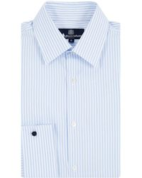 Aquascutum Textured Stripe Long Sleeve Shirt - Lyst