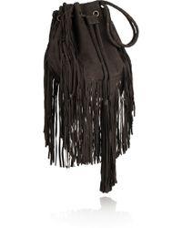 Antik Batik Bertil Fringed Suede Drawstring Bag - Lyst