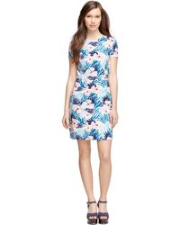 Brooks Brothers Cotton Floral Printed Dress - Lyst