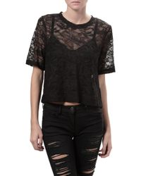 Raquel Allegra Cropped Lace Top - Lyst